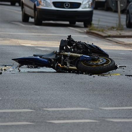 a motorcycle crash