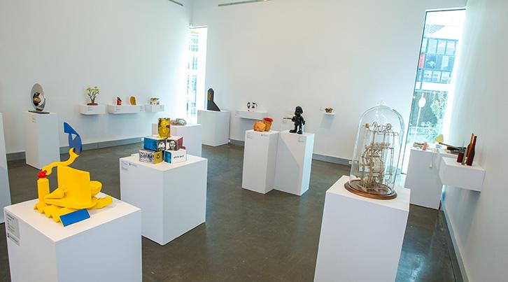 Exhibition of Finalists, 2014 Deakin University Contemporary Small Sculpture Award, Deakin University Art Gallery, Photo: Simon Peter Fox