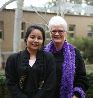 Dr Soodsada Nalongsack (left) and Associate Professor Liz Eckermann.