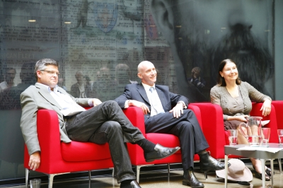 The speakers (from left), Greg Barns, Professor Damien Kingsbury and Professor Marian Simms