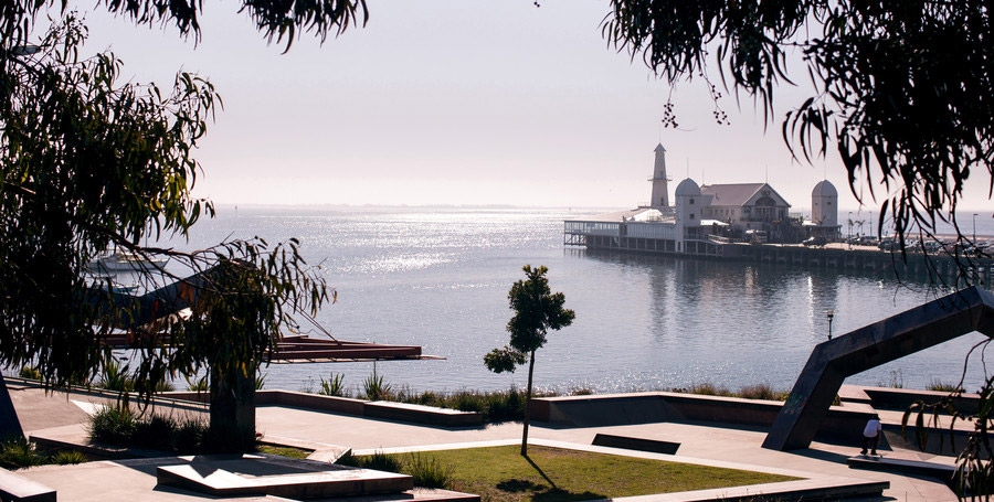 View of The Geelong Waterfront from Deakin University