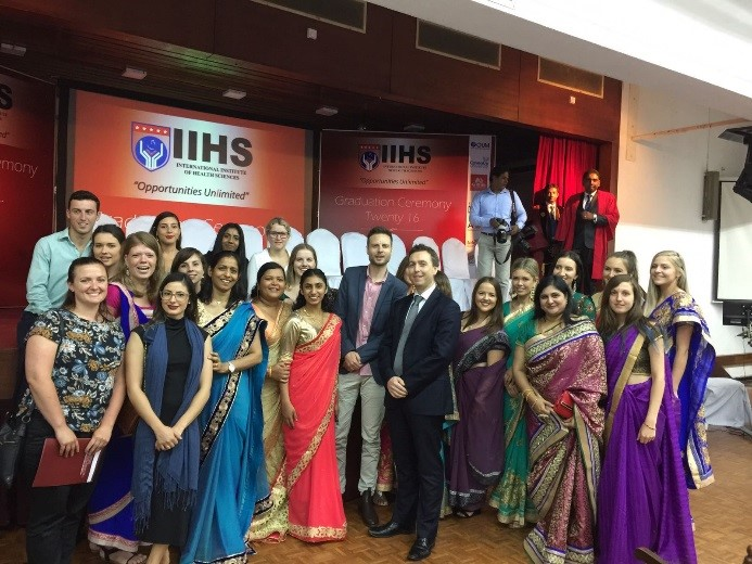 The tour group meet Tim Huggins, Deputy High Commissioner to Sri Lanka