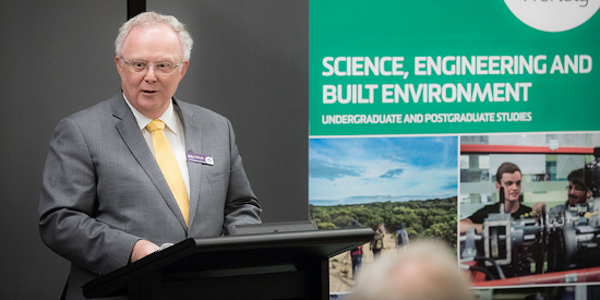 SEBE Faculty Deputy Dean Professor Malcolm Campbell at the Burwood awards.