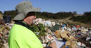 Dr Trevor Thornton auditing a landfill site