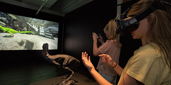 Walking with Australian Dinosaurs in Virtual Reality