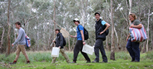 fieldwork students in nature