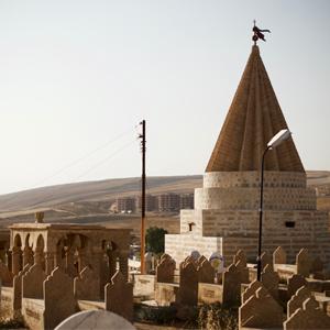 Yazidi cemetery in Shexan, Kurdistan Region