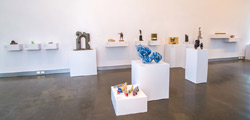 Small sculptures in gallery