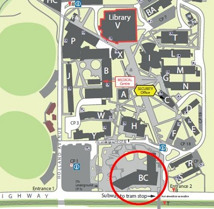 Burwood Campus Map