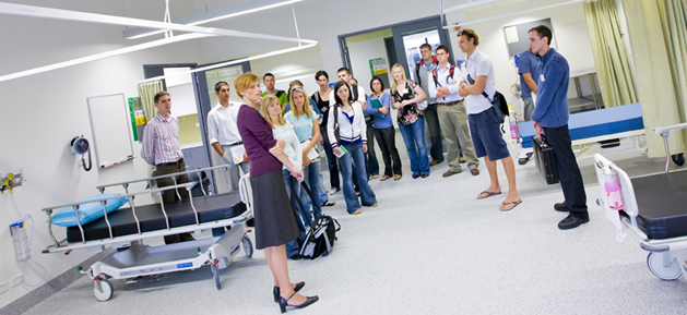 students in hospital setting