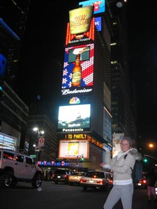 Student in Times Square