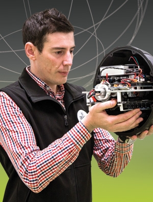 Mechatronics expert Dr Ben Horan has designed CADET's new VR cave.