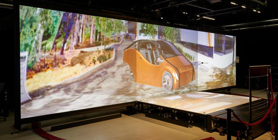 CADET Virtual Reality page car screen