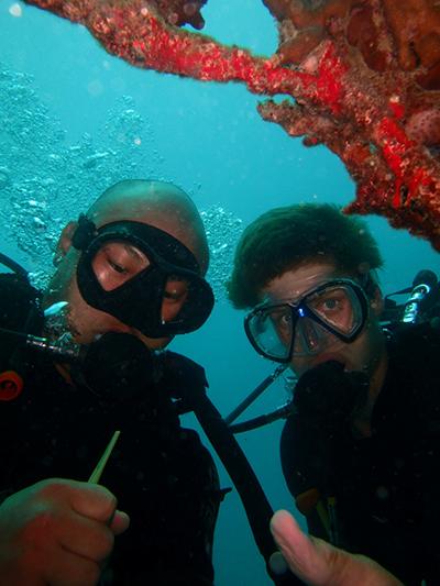 Dom and Jordan reef