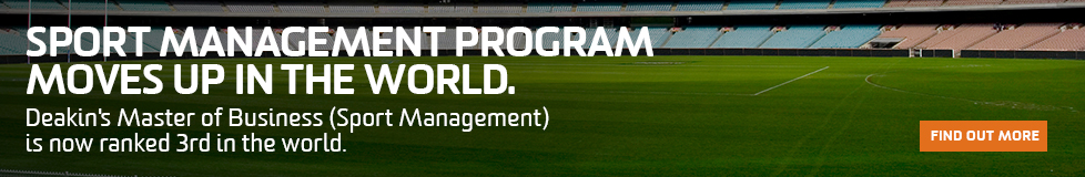 Sports management program moves up in the world