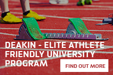 Deakin Elite Athlete Friendly