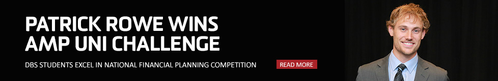 Patrick Rowe wins AMP Uni Challenge