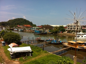 The historic waterfront along Jalan Batang Arau, extensively damaged in the 2009 earthquake.