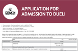 DUELI application form