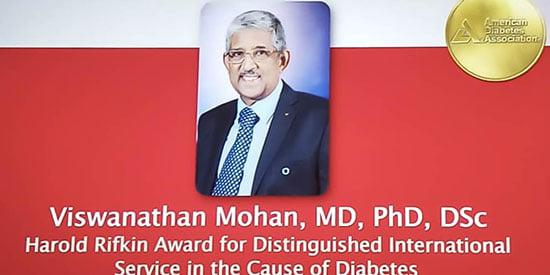 Harold Rifkin Award to Viswanathan Mohan
