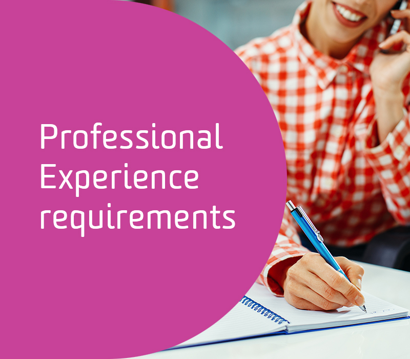 Professional Experience requirements