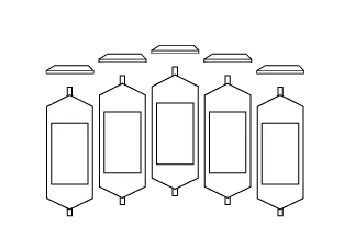 A sketch of The verge display screens, showing layout and design.
