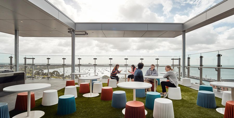 Geelong Waterfront Campus rooftop