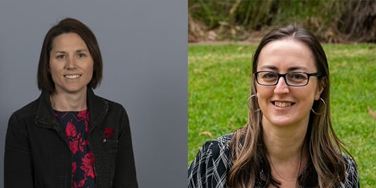 2021 Victorian Young Tall Poppy Award recipients Associate Professor Adrienne O'Neil and Professor Kylie Hesketh