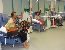 an image of dialysis patients doing zumba gold