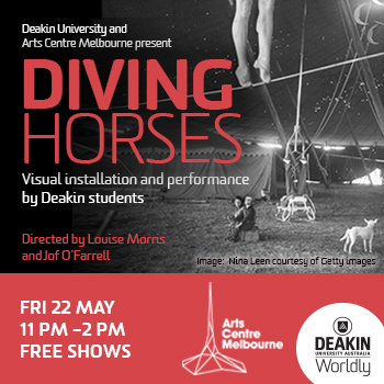 Diving Horses visual installation and performance by deakin students 22 May 11am-2pm