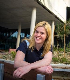Sports scientist Ms Shannon Hunkin