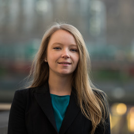 Female student in suit