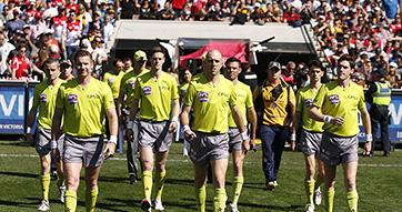 Image of AFL umpires