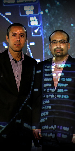 Dr Samer Hanoun (left) and Dr Asim Bhatti from Deakin's Institute for Intelligent Systems Research and Innovation.
