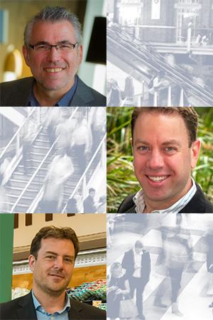 From top: Professor Richard Osborne, Dr Gary Sacks, Dr Adrian Cameron