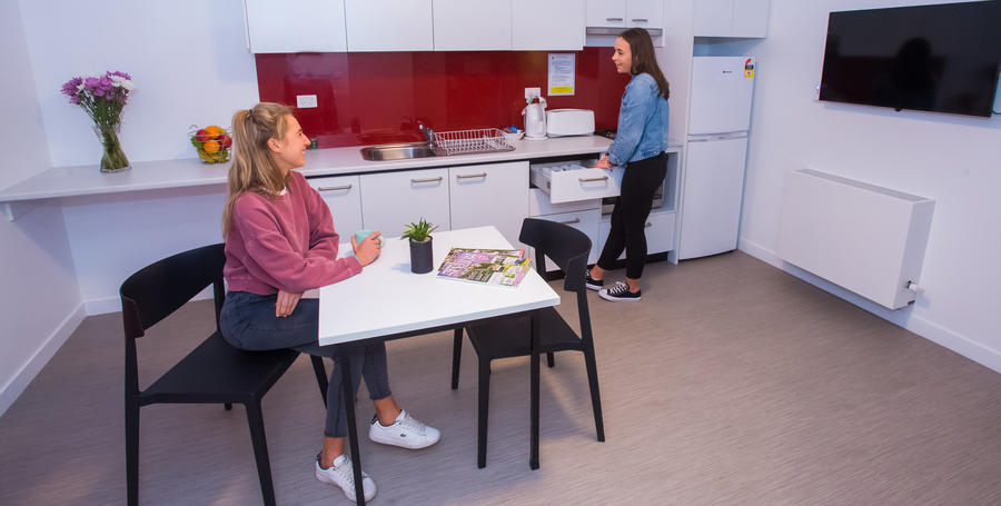 Melbourne Burwood Campus student accommodation kitchen