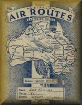 Australian air routes exercise book, 1937