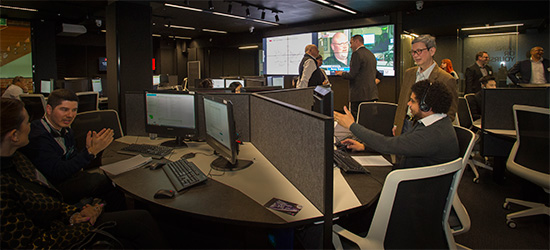 Telstra trading room overview