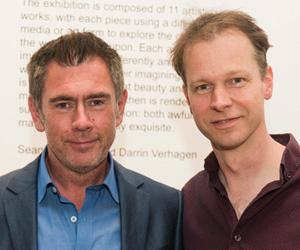 Morbis Artis curators: Deputy Director of DML-CCAR, Associate Professor Sean Redmond (left) and RMIT's Dr Darrin Verhagen.