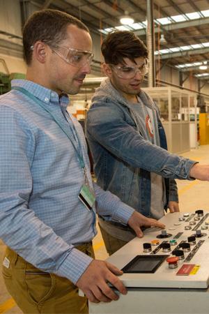 Dr Thomas Dorin (left) and PhD student Steven Babaniaris.
