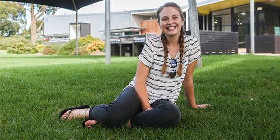 Nadia Thredgold, 19, has received a scholarship to study nursing and midwifery at Deakin's Warrnambool Campus.