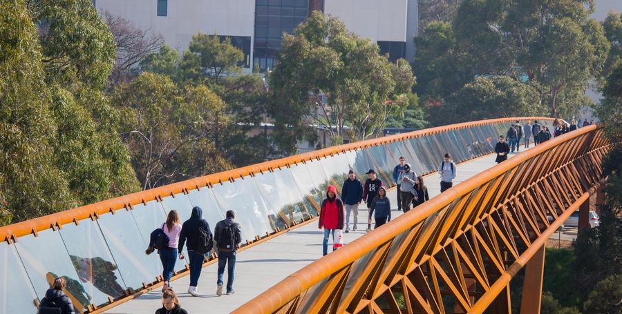 Melbourne Burwood Campus linkage bridge