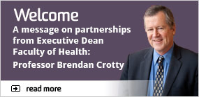 Welcome message form Brendan Crotty
