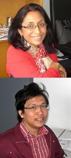 Professor Svetha Venkatesh (top) and Dr Truyen Tran.