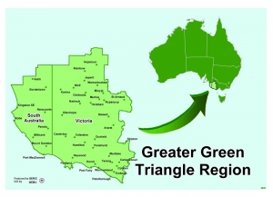Greater Green Triangle region map
