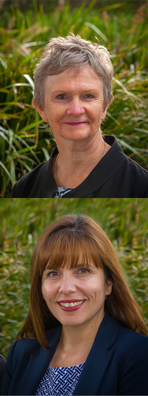 Deakin health economists, Dr Anne Magnus (top) and Associate Professor Cathrine Mihalopoulos.