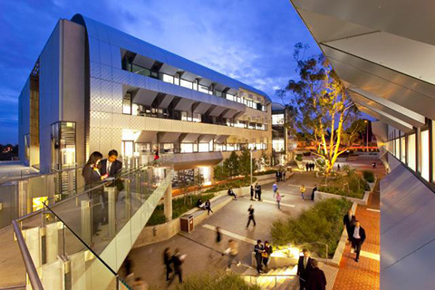 Burwood campus at night