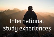 International study button