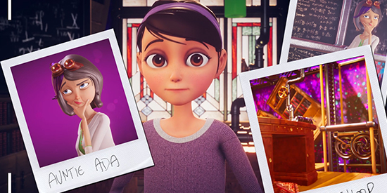 Auntie Ada showcases high-tech animation and stem subjects to girls