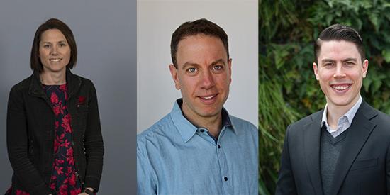 Associate Professor Adrienne O'Neil, Associate Professor Gary Sacks and Dr Wolfgang Marx.